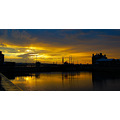 Sunset Albert Dock Liverpool england