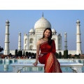 aishwarya rai taj mahala india red 7wonders wonder