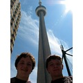 in front of the CN Tower