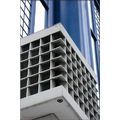 shape colour metal paint smooth architecture detail blue white black