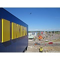IKEA new building 2010 Helsingborg Vala Skane Sweden blue yellow