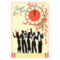 happy new year vintage postcard