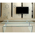 Glass TV Stand Tempered Glass Furniture