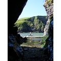 A view out from one of Port Isaac Caves