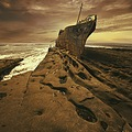 wreck ship aran islands ireland photomanipulation brown square keitology