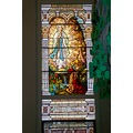 stained glass Blessed Virgin religous