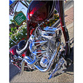 motorcycle engine chrome chopper