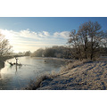frost cold river taw bishops tawton