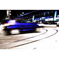 car street motion blur blue light night traffic