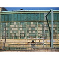 factory wall chainlink texture color decay