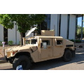 up armored hummer 50 caliber machine gun mounted topside