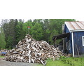 Vermont Home Woodpile in sumer Be Prepared
