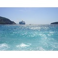 dubrovnik kroatia sea adriatic blue oldtown cruiseship ship