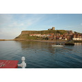 Whitby yacht harbour church clifftop