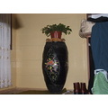 This is the big pot vase which we were used it to hide pickle in it...then my sis painted it...