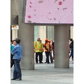 At 3:23pm.TTC Workers in Yellow Vests-At Dundas Square-Toronto,Ont.,On Saturday,June 8,2013