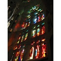 barcelona sagrada familia church gaudi stained glass
