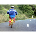 girl bike fast speed downhill