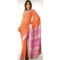 Rust Viscose Saree with Blouse