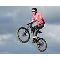 boy mtb mountainbike mountainbiker jump closeup