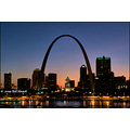 stlouis missouri us usa Arch night light Historic skyline 072509 2009