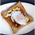 Poached duck egg on toast
