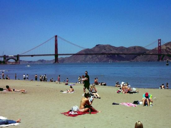 Beach Goldengatebridge Sanfrancisco California