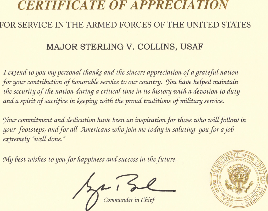 retirement letter of appreciation from the president certificate of appreciation quotes quotesgram 116